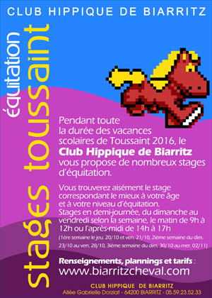 STAGES TOUSSAINT 2016